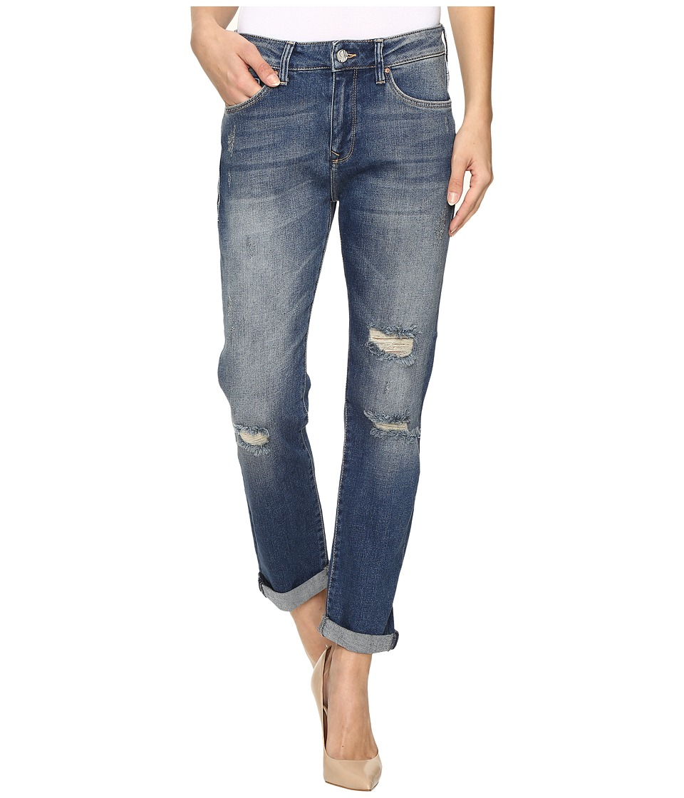 Mavi Jeans - Brenda Boyfriend in Mid Blue Ripped 90s (Mid Blue Ripped 90s) Women's Jeans