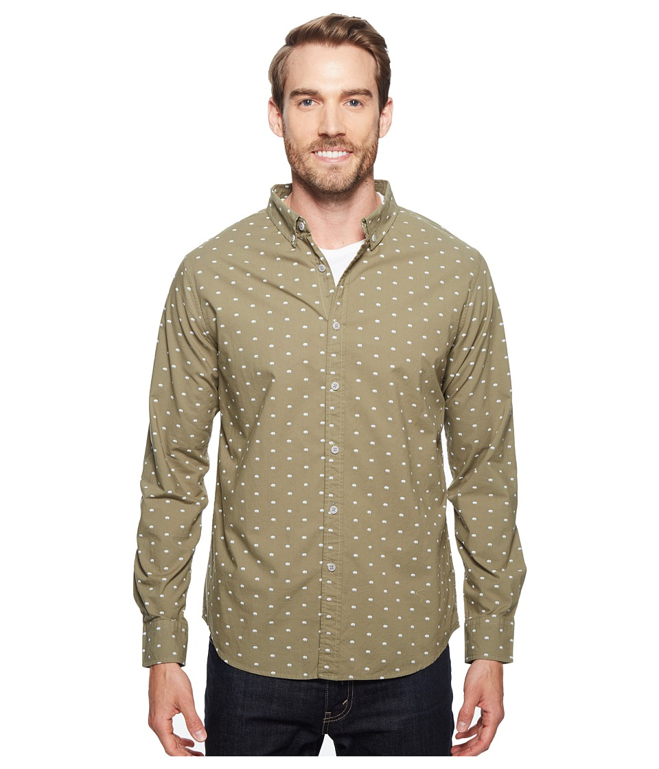 United By Blue - Long Sleeve Woodland Bison Shirt (Green) Men's Clothing