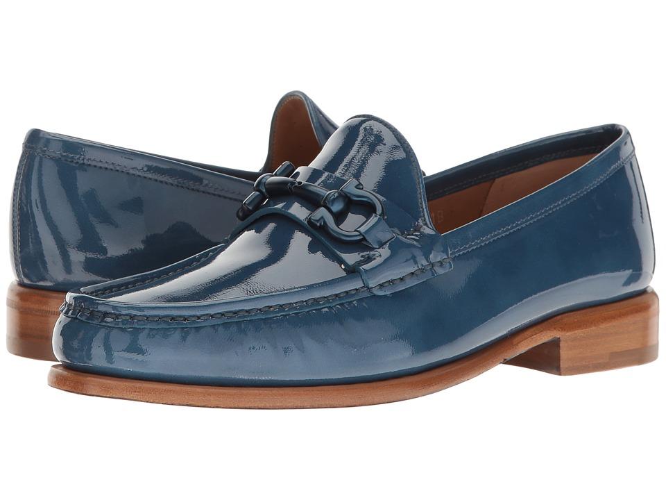Salvatore Ferragamo - Patent Leather Loafer Wtih Gancio Buckle (Vernice Haiti Pacific) Women's Shoes