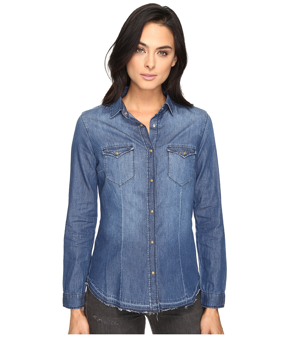 Mavi Jeans - Melissa Shirt in Mid Indigo (Mid Indigo) Women's Clothing