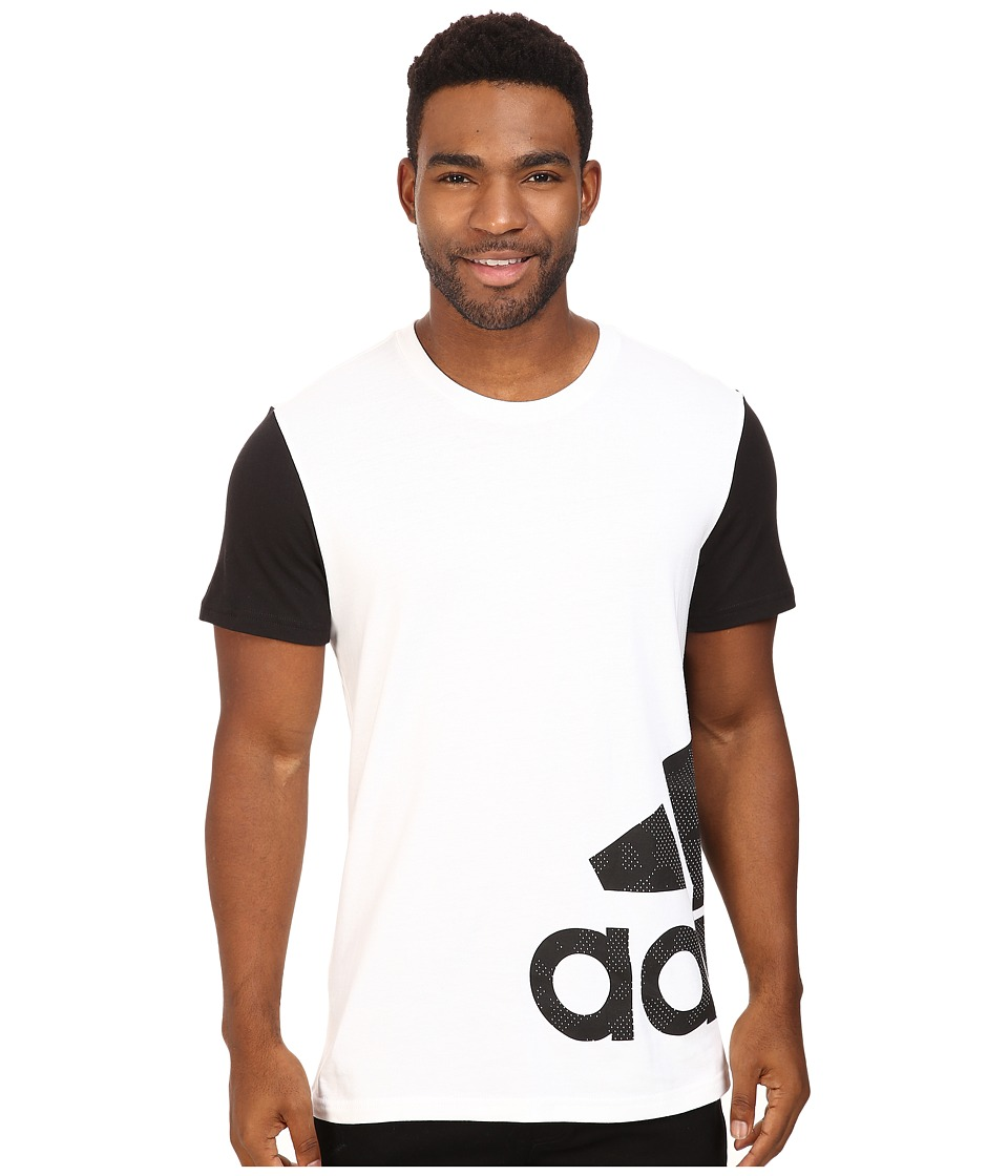 adidas - Badge of Sport Wrap Tee (White/Black) Men's T Shirt