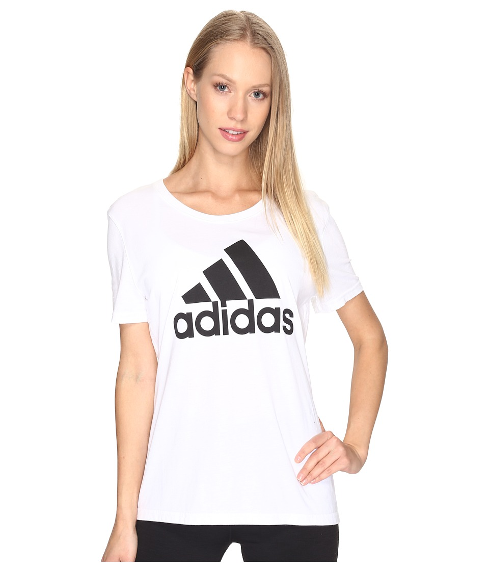adidas - Badge of Sport Tee (White/Black) Women's T Shirt