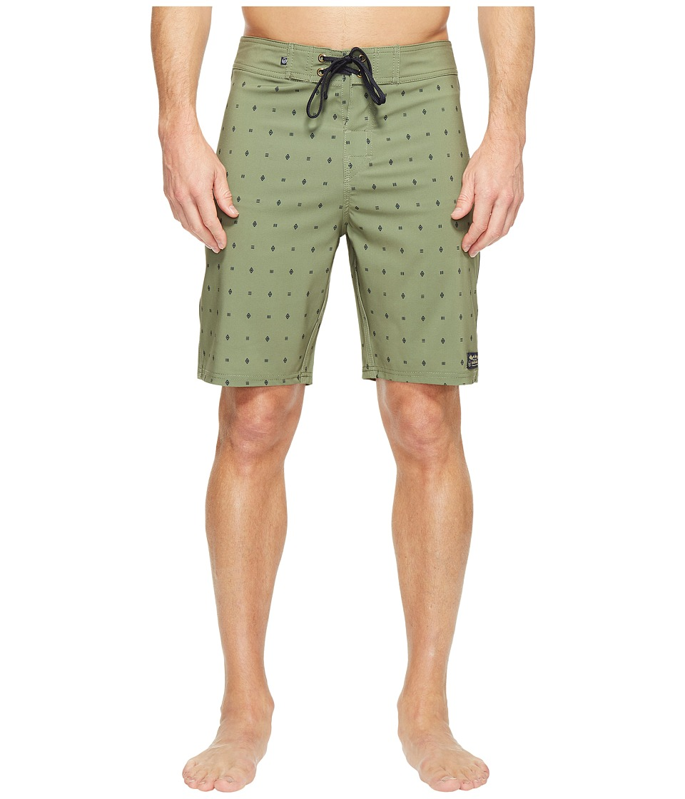 United By Blue - River Bed Boardshorts (Olive) Men's Swimwear