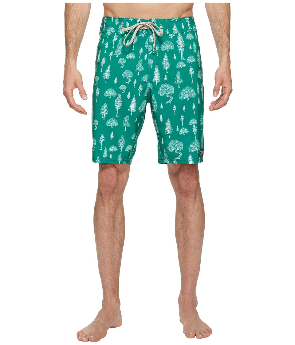 United By Blue - Woodland Boardshorts (Green) Men's Swimwear