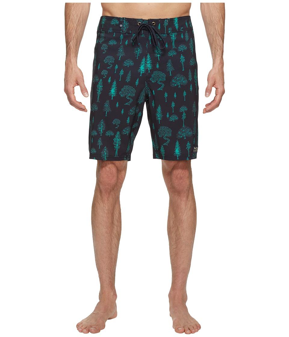 United By Blue - Woodland Boardshorts (Navy) Men's Swimwear