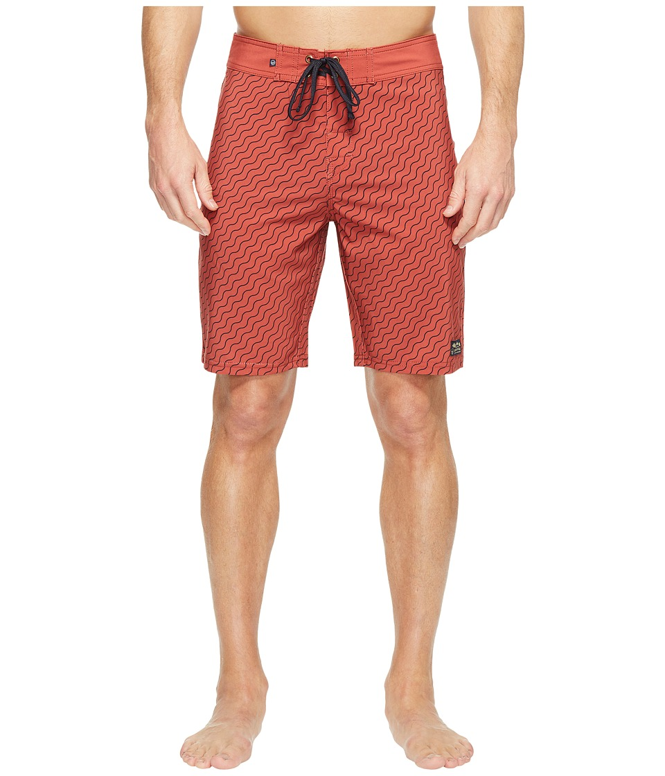 United By Blue - Stillwater Boardshorts (Orange) Men's Swimwear
