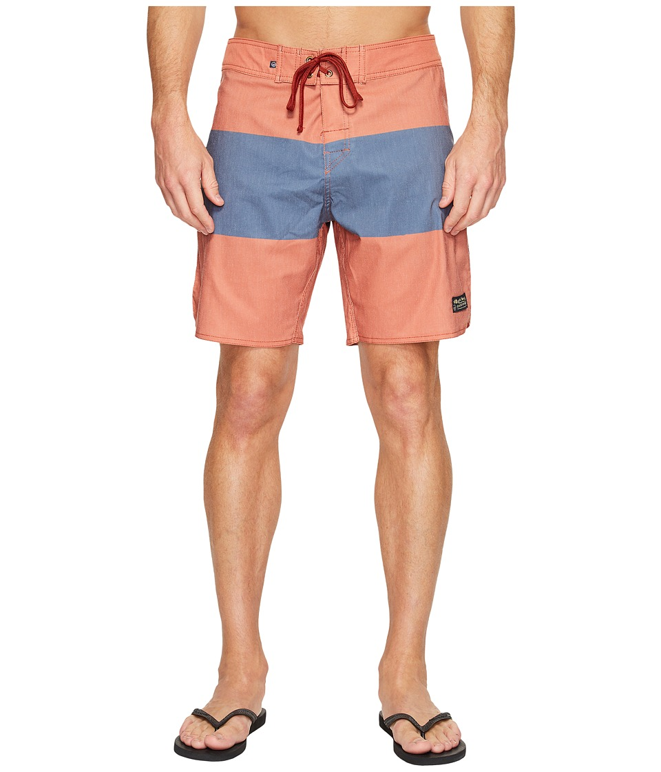 United By Blue - Midstream Scallop Boardshorts (Navy) Men's Swimwear