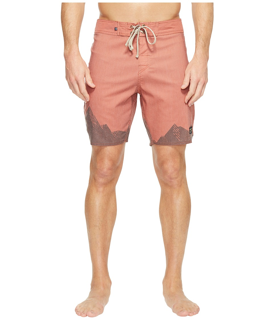United By Blue Ridged Mountains Boardshorts (Orange) Men
