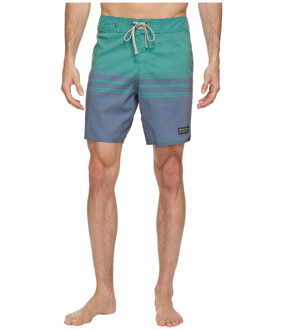 United By Blue Backwater Scallop Boardshorts (Navy) Men