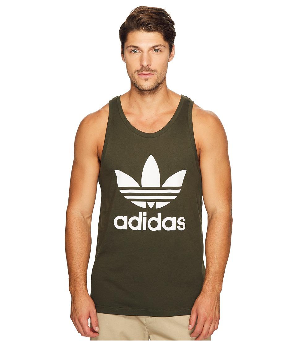adidas Originals - Trefoil Tank Top (Night Cargo) Men's Sleeveless