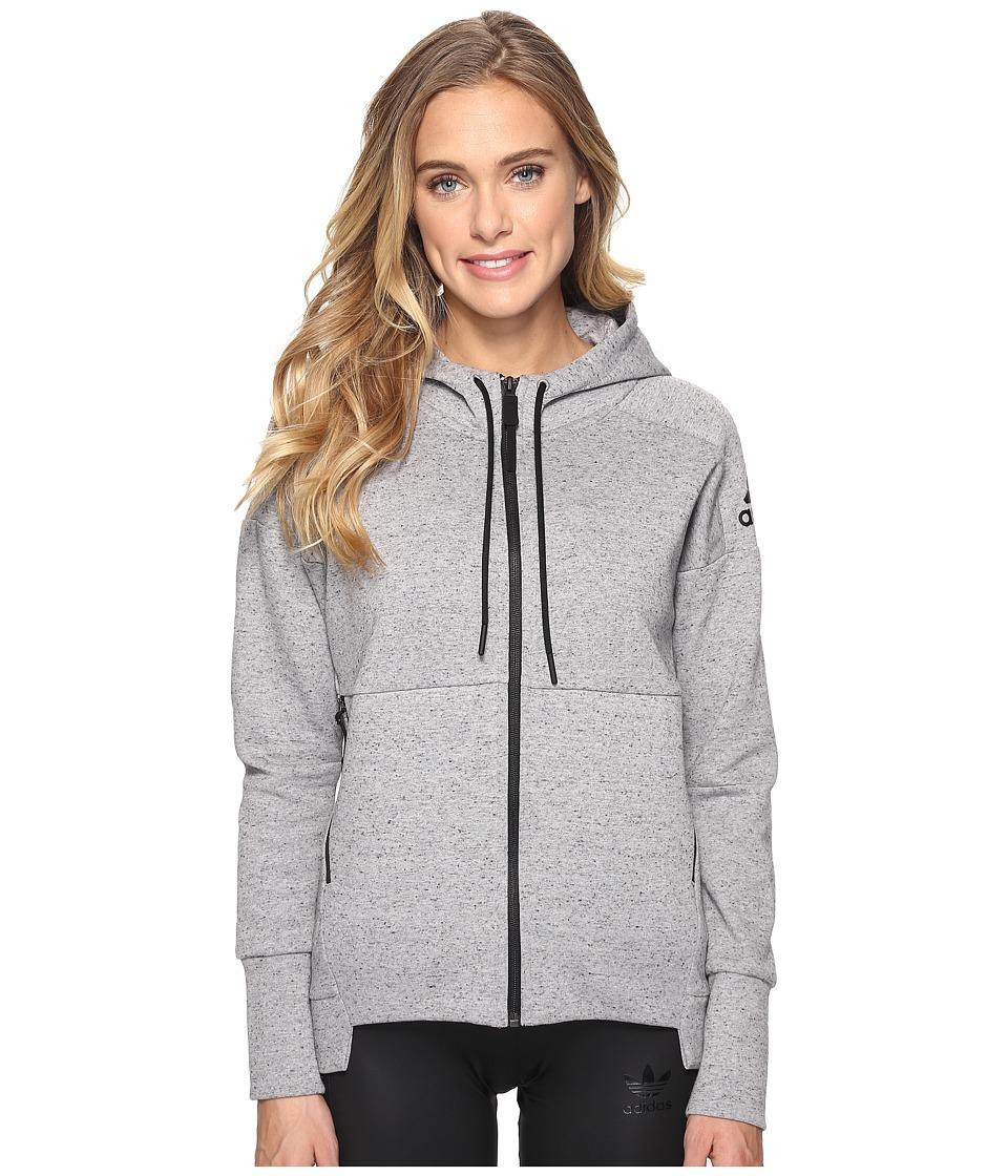 adidas - Stadium Hoodie (Medium Grey Heather) Women's Sweatshirt