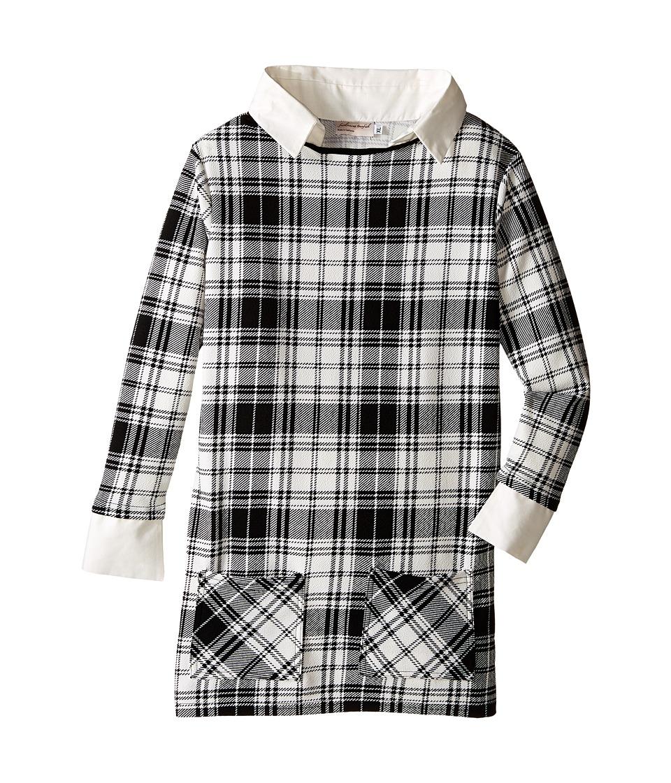 fiveloaves twofish - Wednesday Shift Dress (Little Kids/Big Kids) (Black/White) Girl's Dress