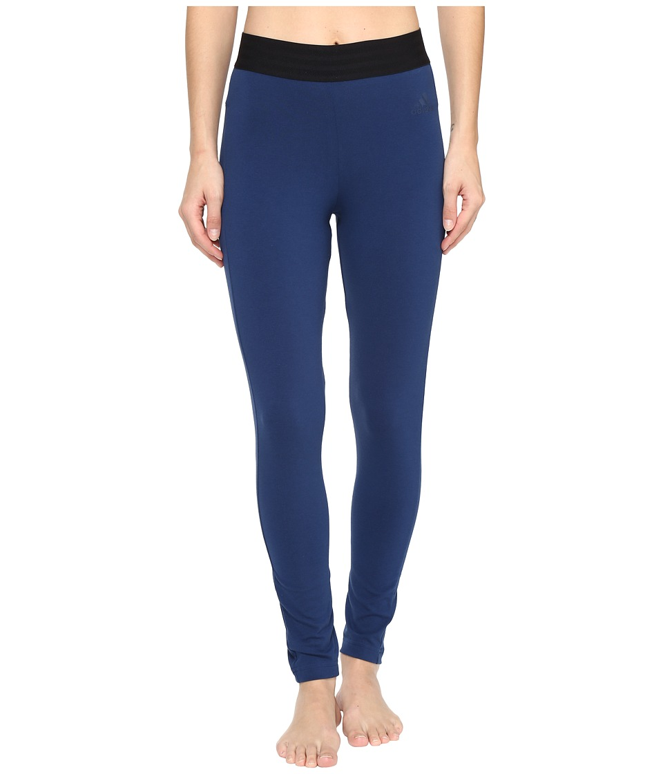 adidas - Sport ID Tights (Mystery Blue S17) Women's Casual Pants