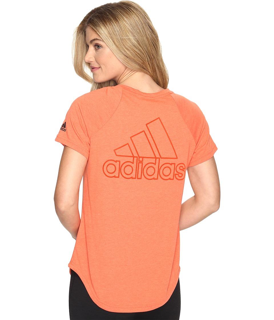 adidas - ID V-Tee (Energy S17) Women's Short Sleeve Pullover