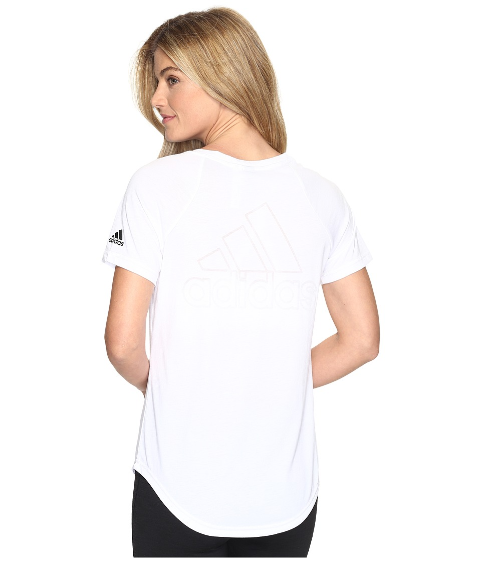 adidas - ID V-Tee (White) Women's Short Sleeve Pullover