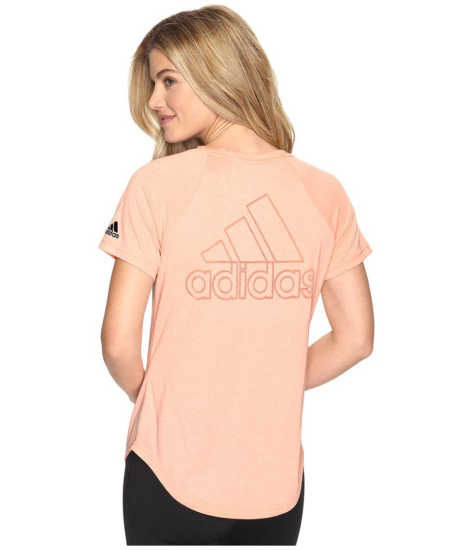 adidas - ID V-Tee (Still Breeze F12) Women's Short Sleeve Pullover