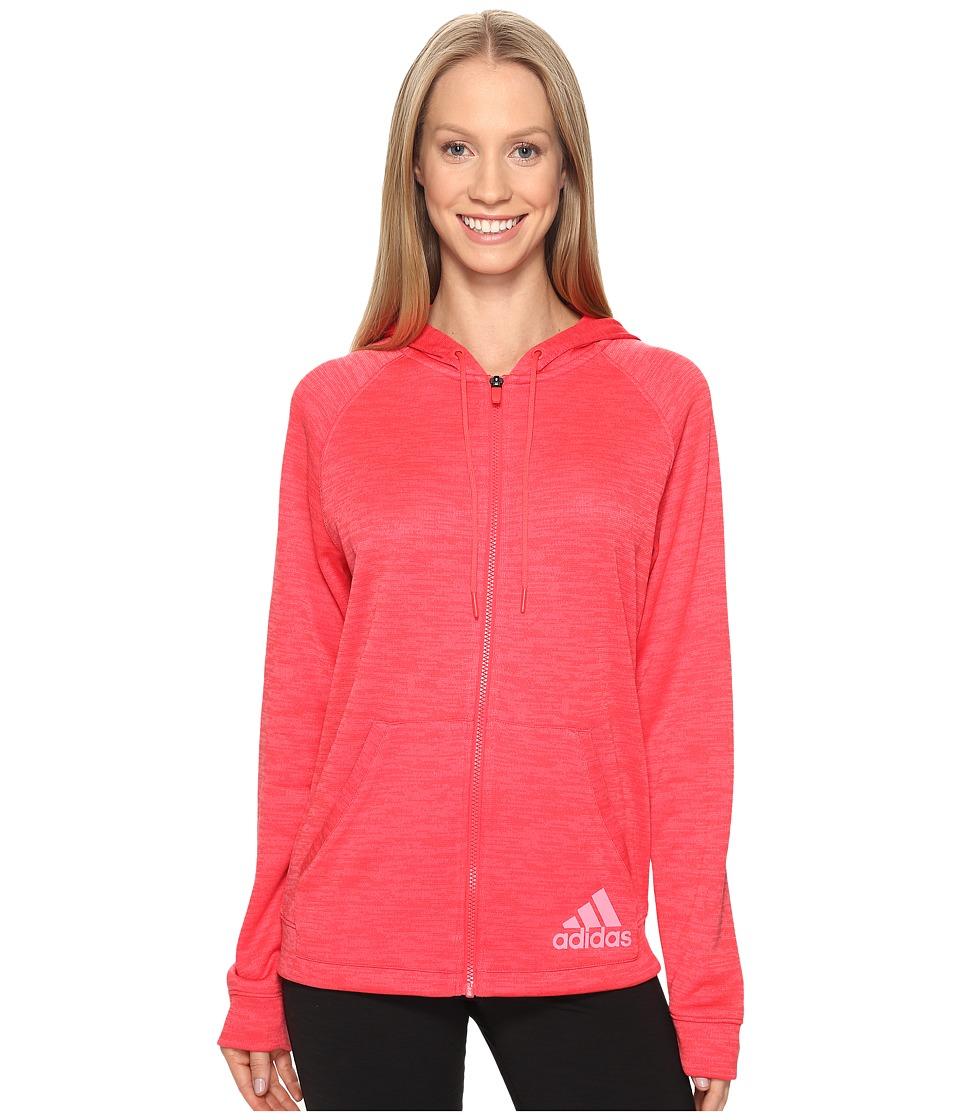 adidas - Sport-2-Street Hoodie (Core Pink) Women's Sweatshirt
