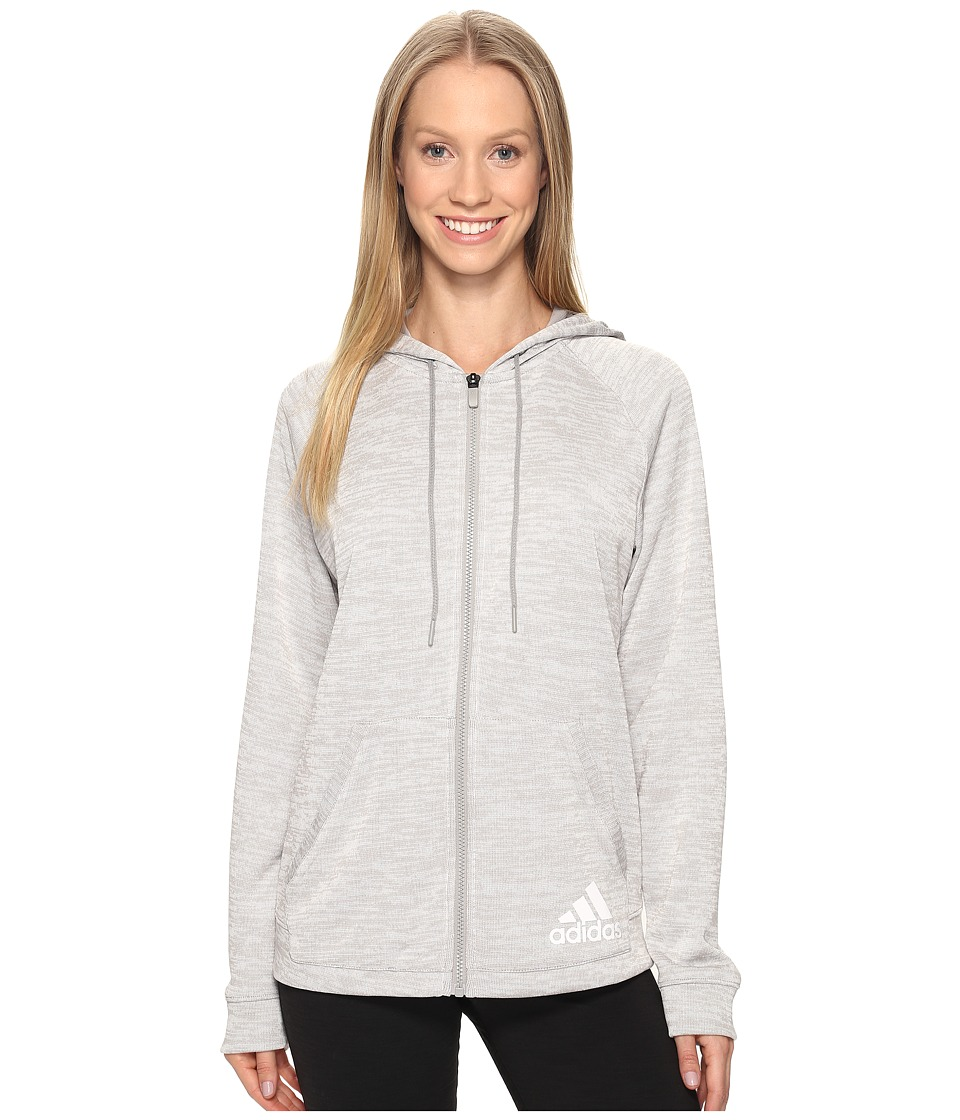 adidas - Sport-2-Street Hoodie (Medium Grey Heather) Women's Sweatshirt