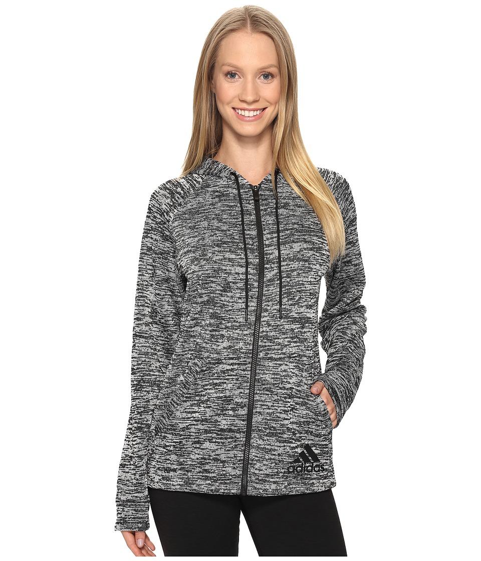 adidas - Sport-2-Street Hoodie (Black/White) Women's Sweatshirt