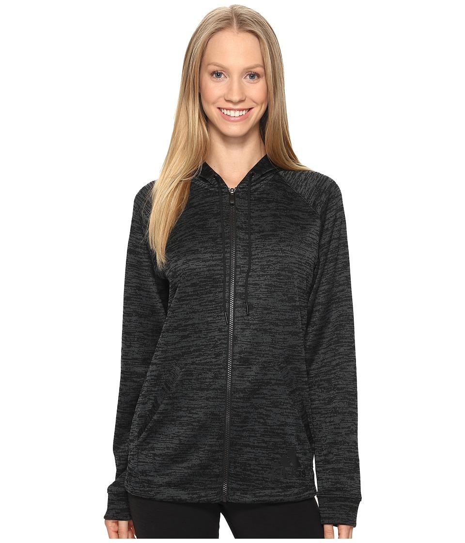 adidas - Sport-2-Street Hoodie (Black/Black) Women's Sweatshirt