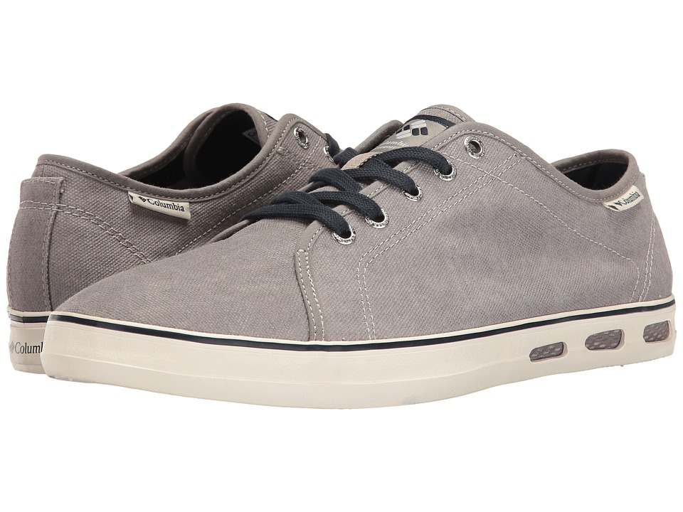 Columbia - Vulc N Vent Shore Lace (Light Grey/Collegiate Navy) Men's Shoes