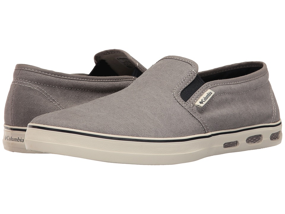 Columbia - Vulc N Vent Shore Slip (Light Grey/Collegiate Navy) Men's Shoes