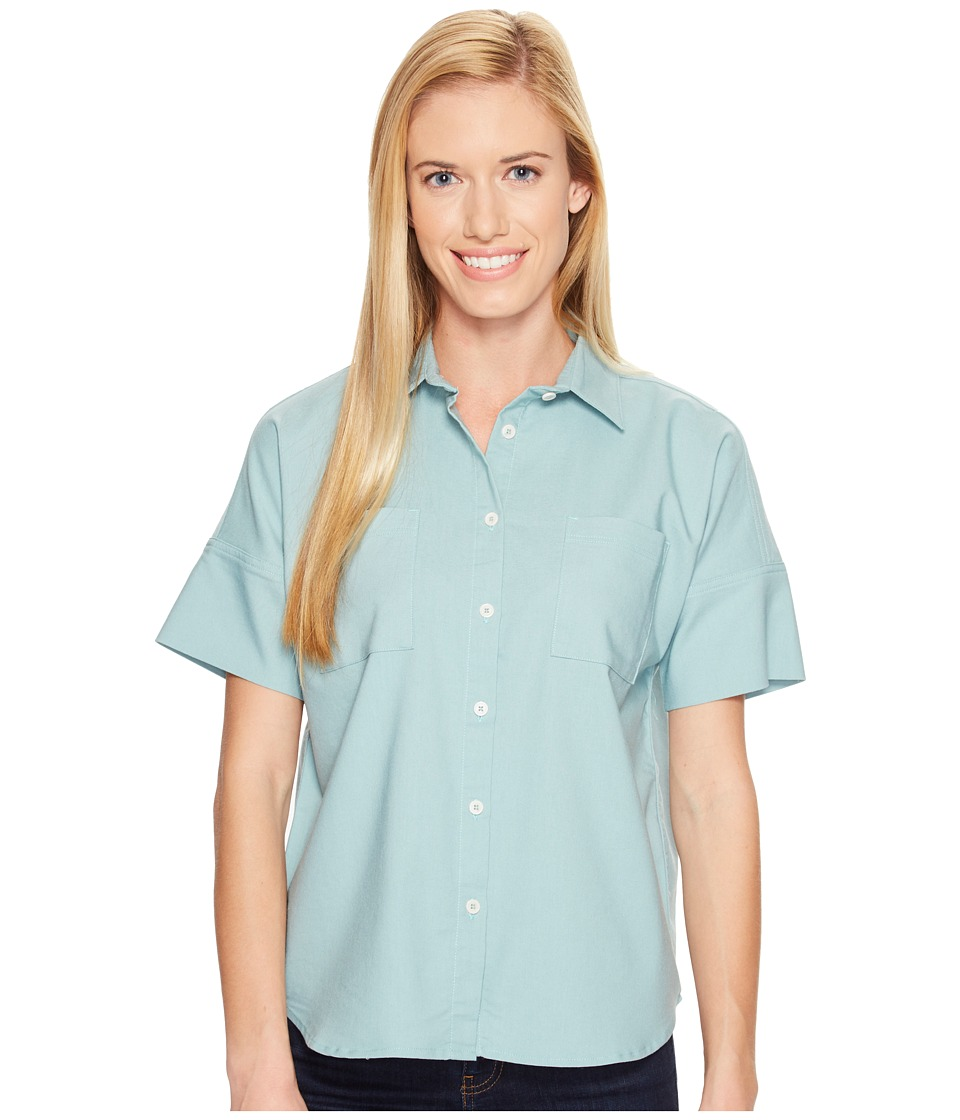 United By Blue - Short Sleeve Crestone Shirt (Teal) Women's Clothing