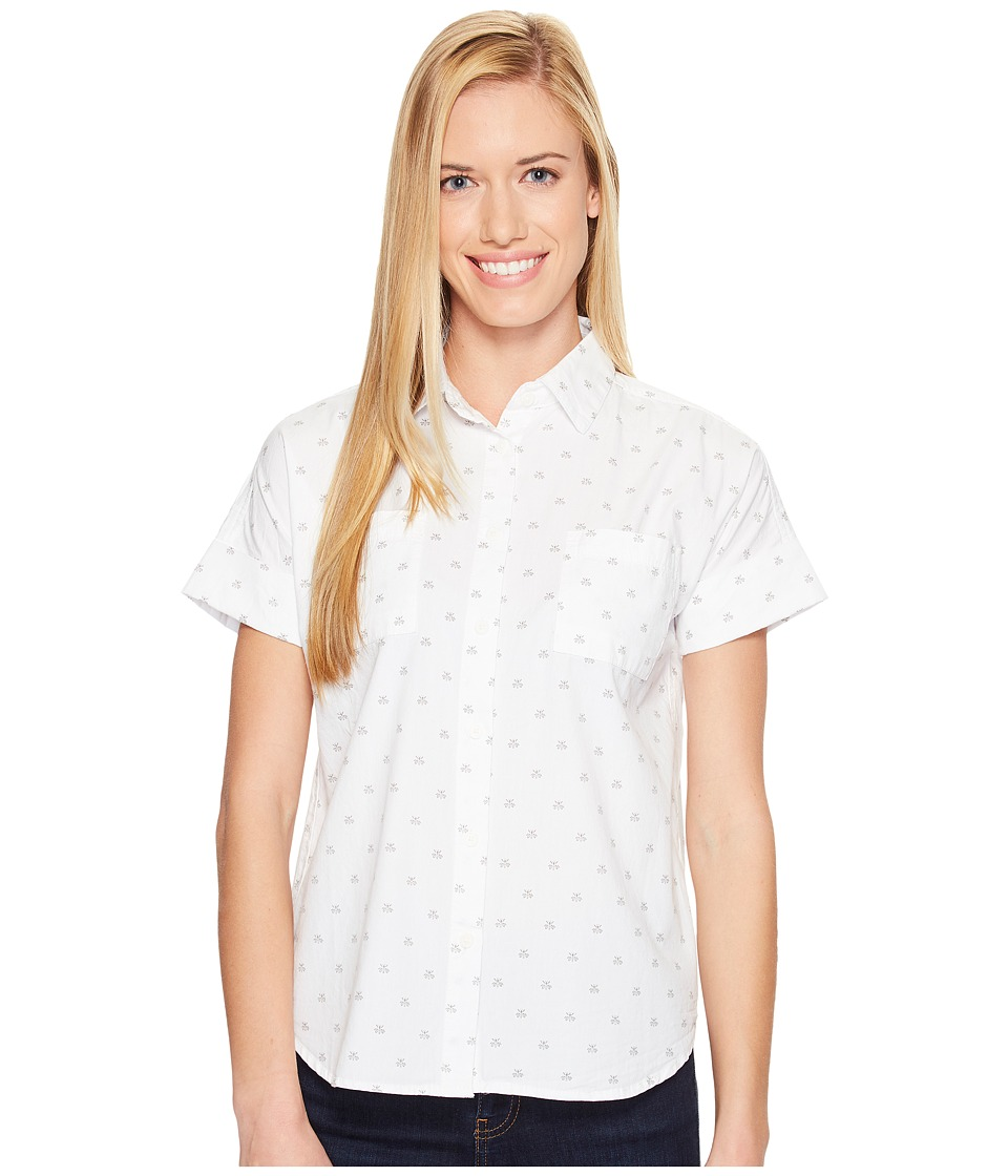 United By Blue - Short Sleeve Honeycomb Shirt (White) Women's Clothing