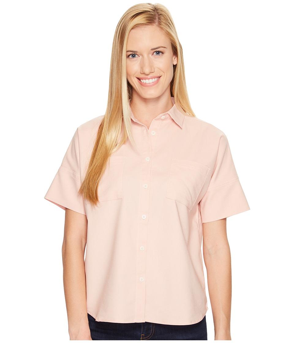 United By Blue - Short Sleeve Crestone Shirt (Blush) Women's Clothing