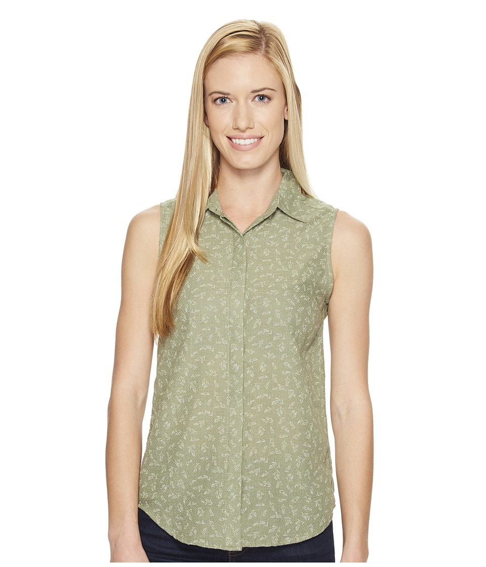 United By Blue - Sleeveless Primrose Shirt (Green) Women's Sleeveless
