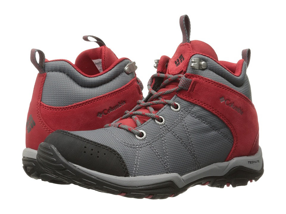 Columbia - Fire Venture Mid Textile (Ti-Grey Steel/Rocket) Women's Shoes