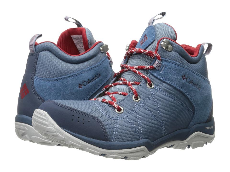 Columbia - Fire Venture Mid Textile (Steel/Rocket) Women's Shoes