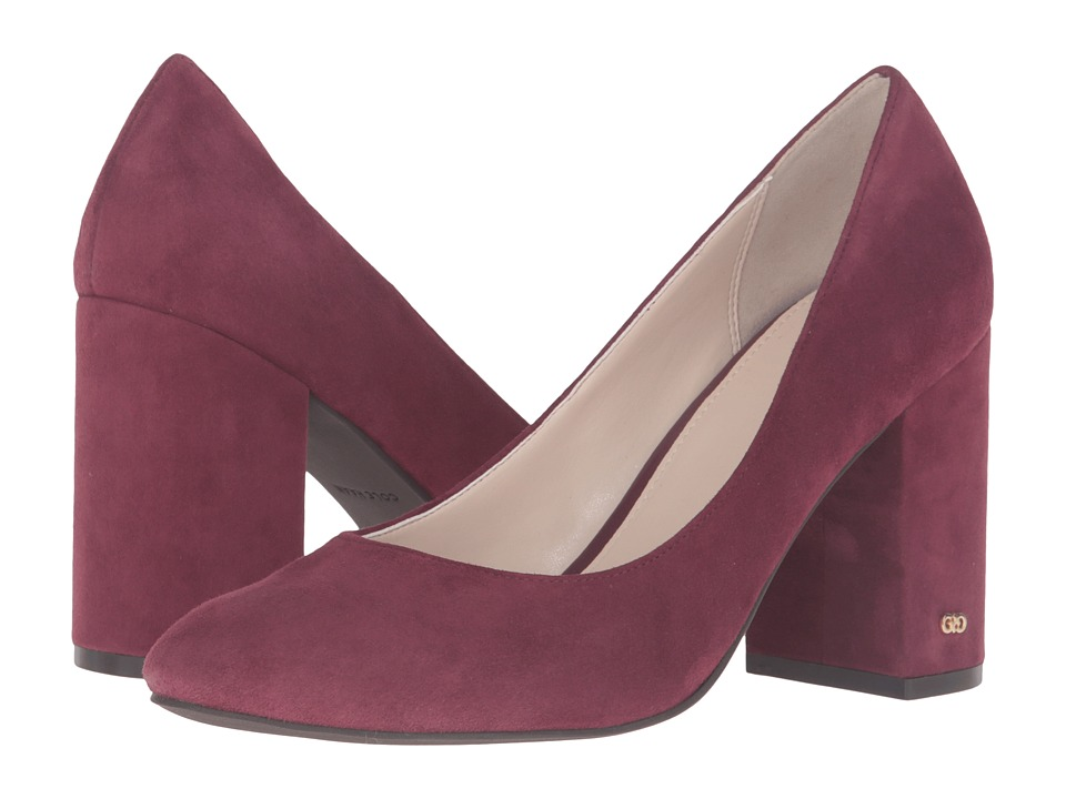 Cole Haan - Alanna Pump 85mm II (Tawny Port Suede) High Heels