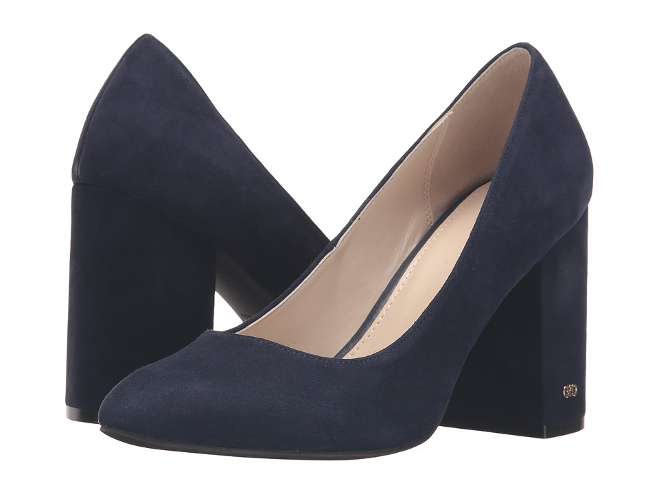Cole Haan - Alanna Pump 85mm II (Marine Blue Suede) High Heels