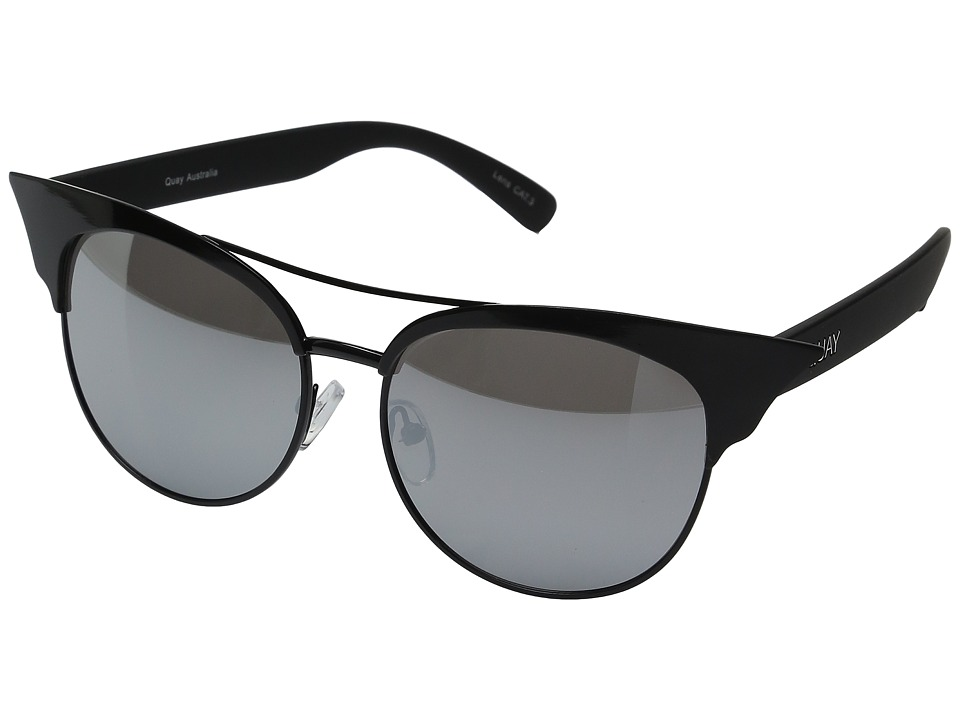 QUAY AUSTRALIA - Zig (Black/Silver) Fashion Sunglasses