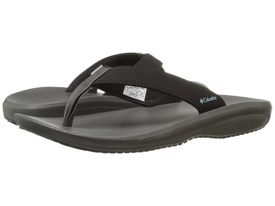 Columbia - Barraca Flip (Black/Aquarium) Women's Sandals