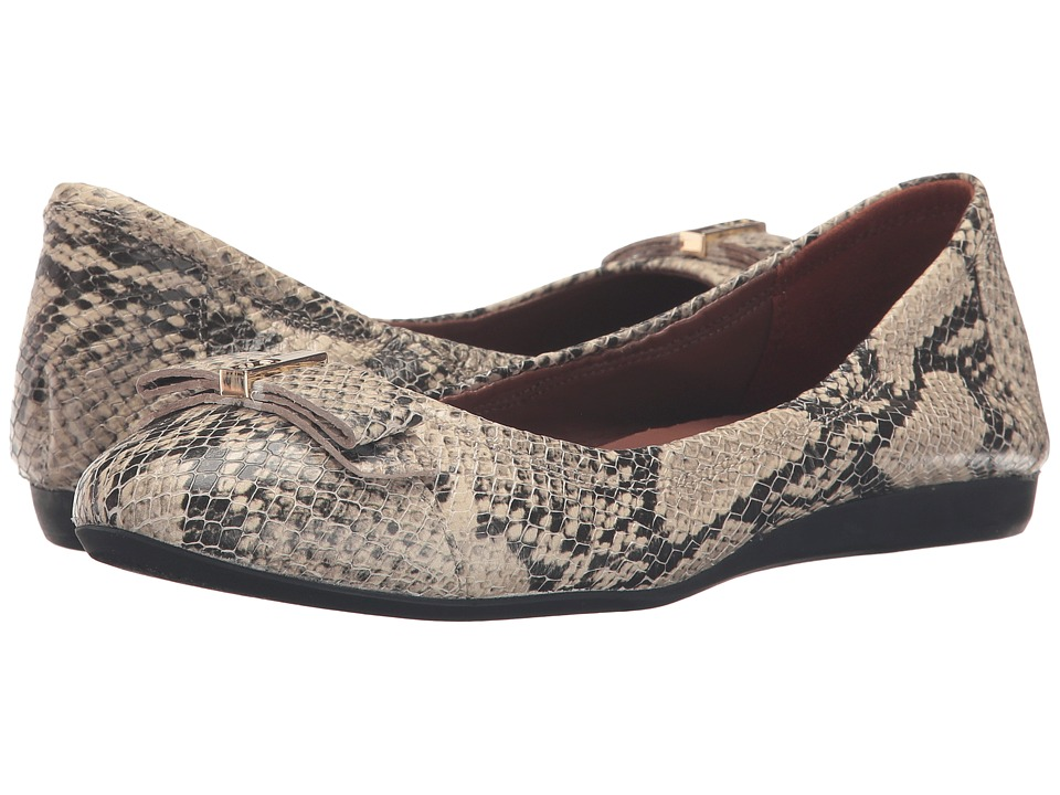 Cole Haan - Elsie Ballet II (Roccia Snake Print Leather) Women's Slip on Shoes
