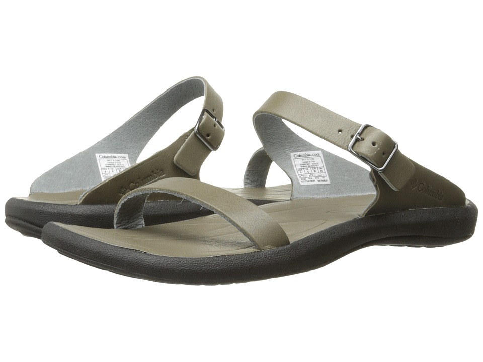 Columbia - Caprizee Leather Slide (City Grey/Black) Women's Slide Shoes
