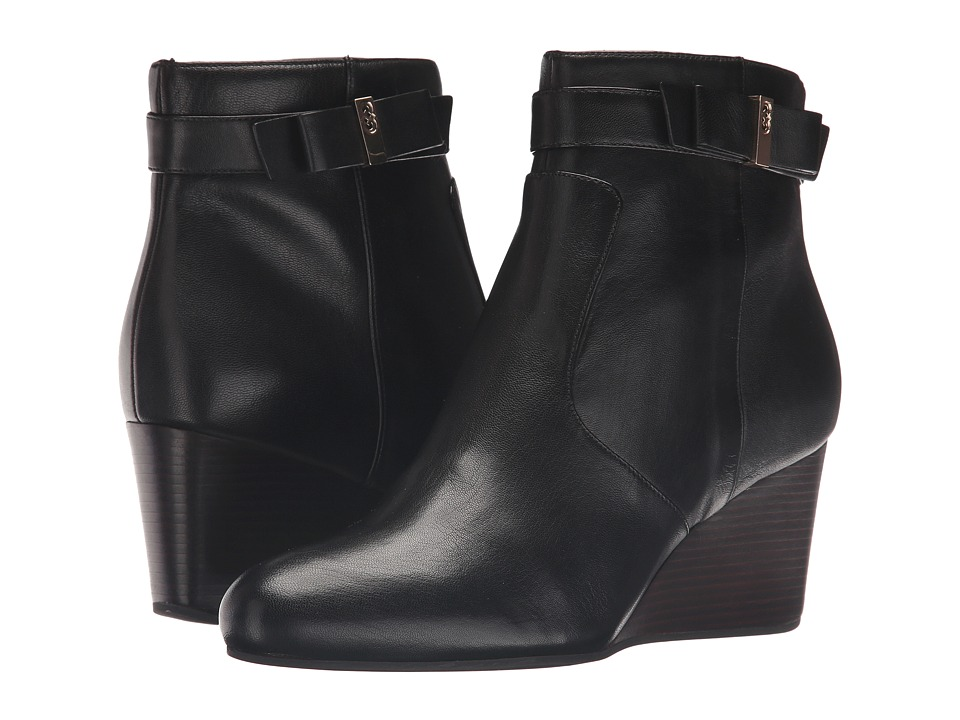 Cole Haan Elsie Bow Bootie (Black Leather) Women
