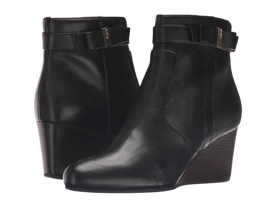 Cole Haan - Elsie Bow Bootie (Black Leather) Women's Boots
