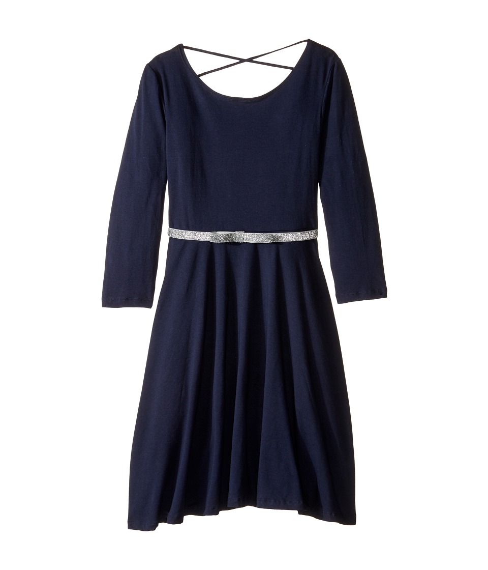 fiveloaves twofish - Ballerina Skater Dress (Little Kids/Big Kids) (Navy) Girl's Dress
