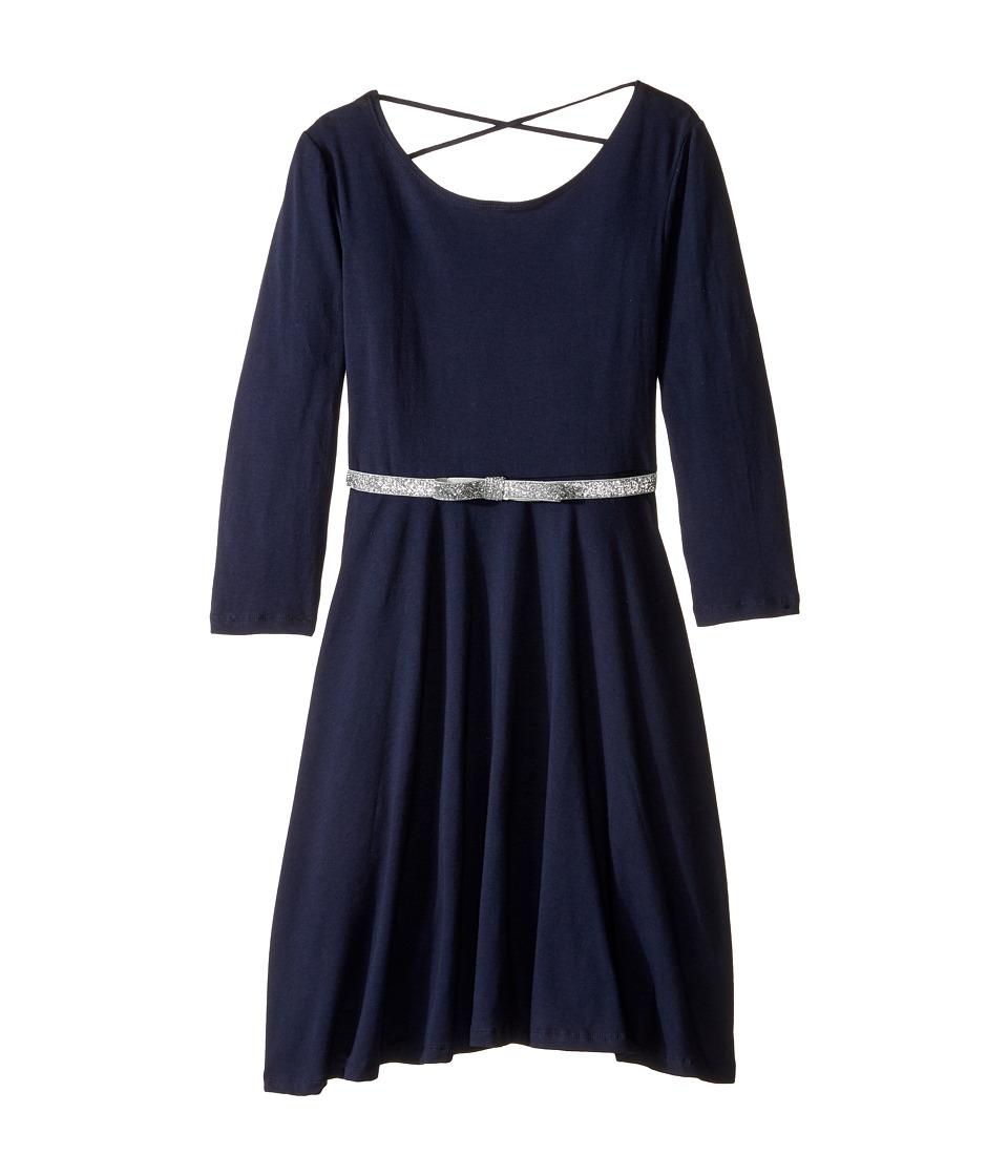 fiveloaves twofish - Ballerina Skater Dress (Little Kids/Big Kids) (Navy) Girl's Dress
