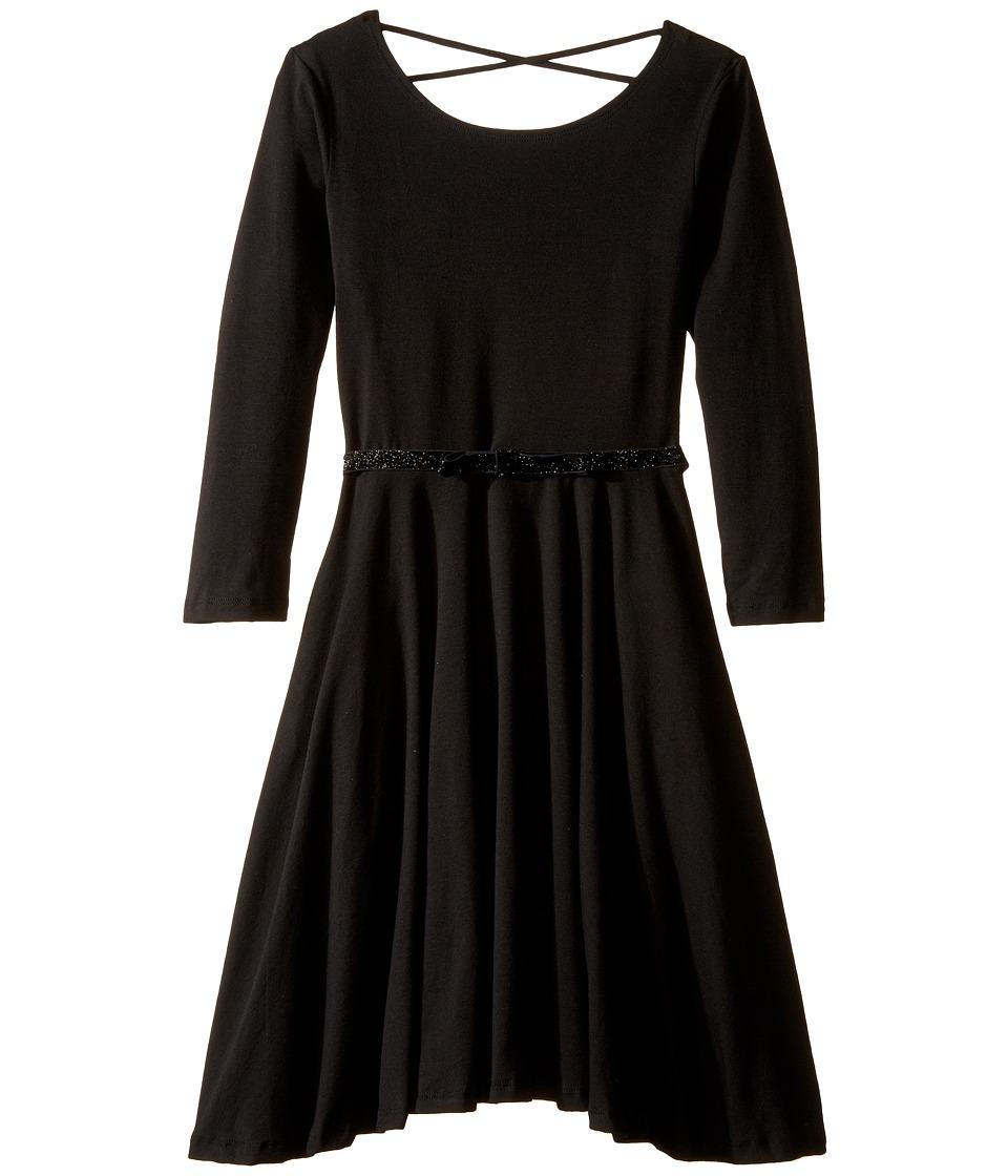 fiveloaves twofish - Ballerina Skater Dress (Little Kids/Big Kids) (Black) Girl's Dress