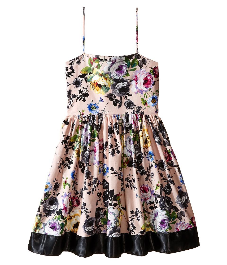 fiveloaves twofish - Ribbon Party Dress Belle's Garden (Big Kids) (Pink) Girl's Dress