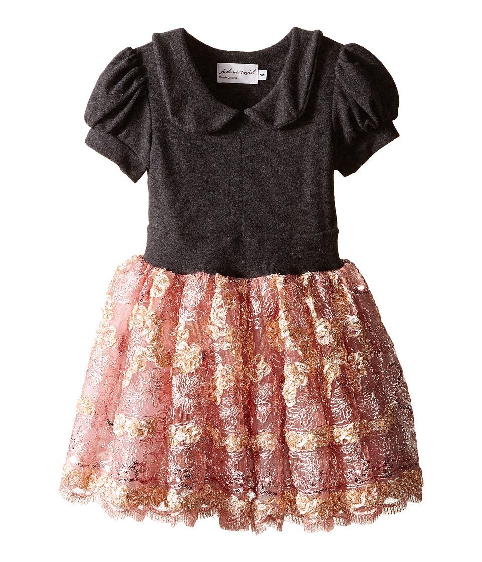 fiveloaves twofish - Miss Toinette Dress (Little Kids/Big Kids) (Pink/Grey) Girl's Dress