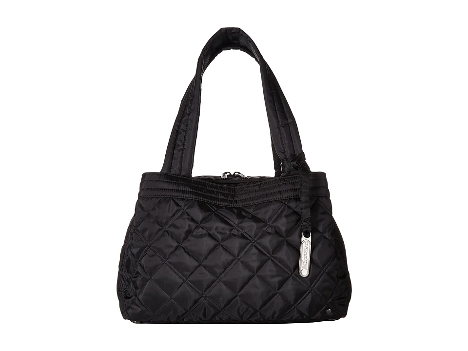 LeSportsac - City Mercer Tote (Phantom Black Quilted) Tote Handbags