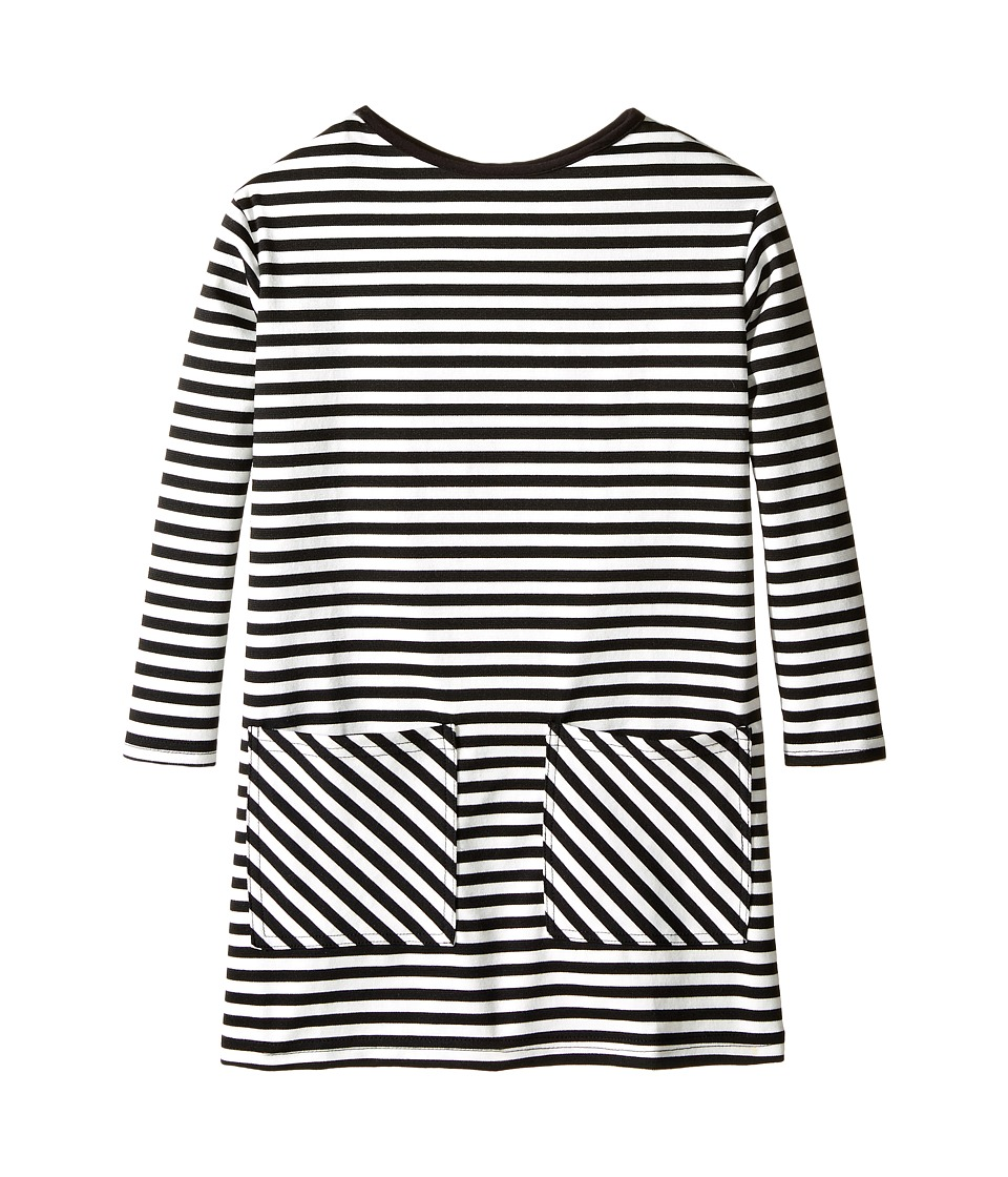 fiveloaves twofish - Stripe Sheath Dress (Little Kids/Big Kids) (Black/White) Girl's Dress