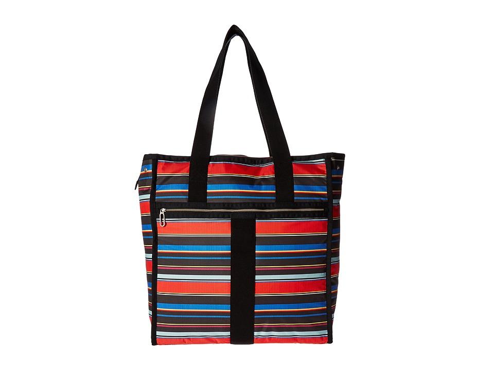 LeSportsac Luggage - Large City Tote (Ribbon Stripe) Tote Handbags