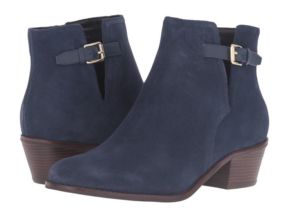 Cole Haan - Willette Bootie II (Blazer Blue Suede) Women's Boots