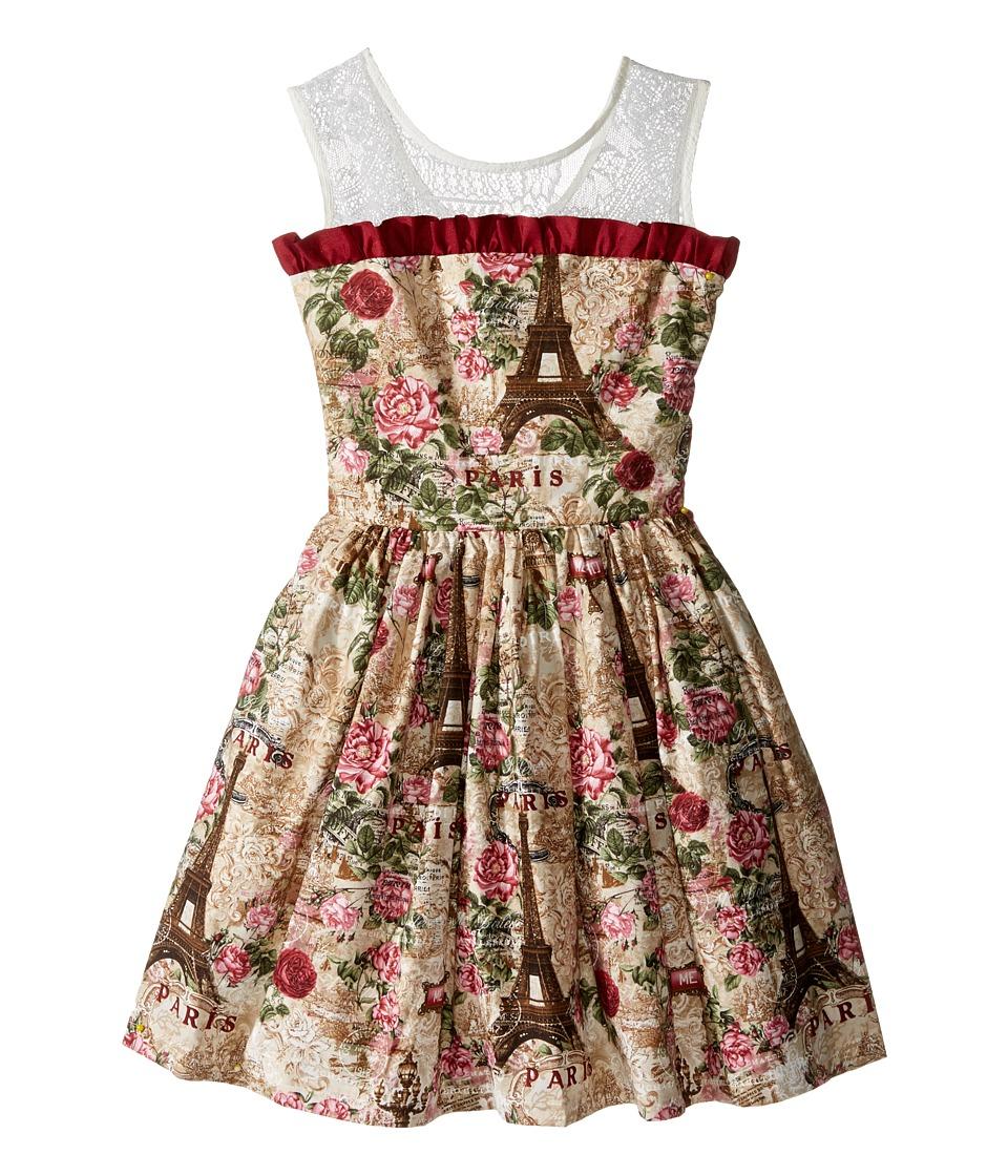 fiveloaves twofish - Eiffel Tower Party Dress (Little Kids/Big Kids) (Natural) Girl's Dress